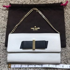 Kate spade bifold wallet with chain
